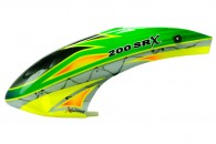 Airbrush Fiberglass Green Arrow Canopy - BLADE 200 SRX