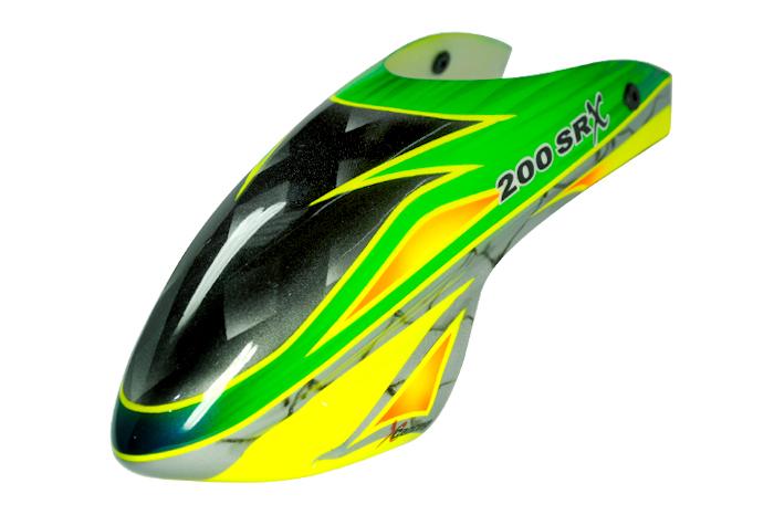Airbrush Fiberglass Green Arrow Canopy Blade 200 Srx