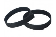Double Sided Velcro Strap 300x15mm - BLACK